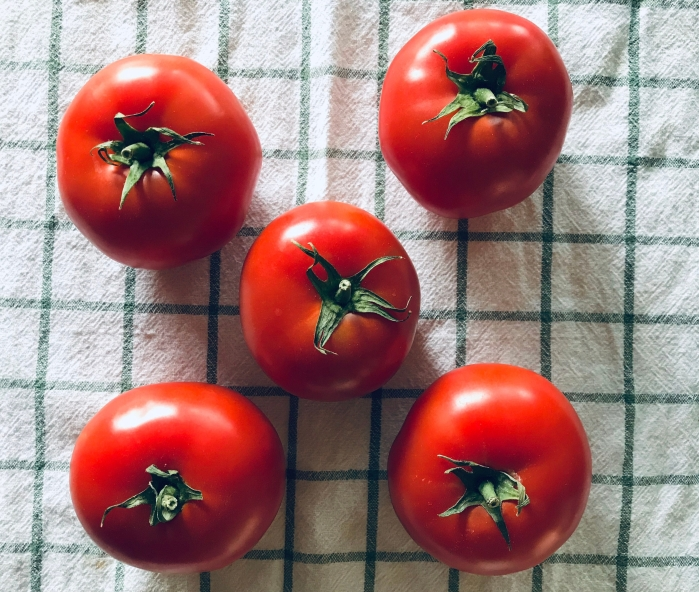 Five beefsteak tomatoes